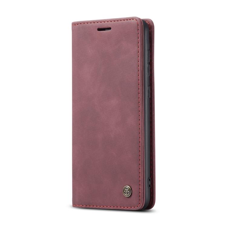 Чехол-книжка CaseMe-013 Multifunctional на Samsung Galaxy A52 - винно-красный