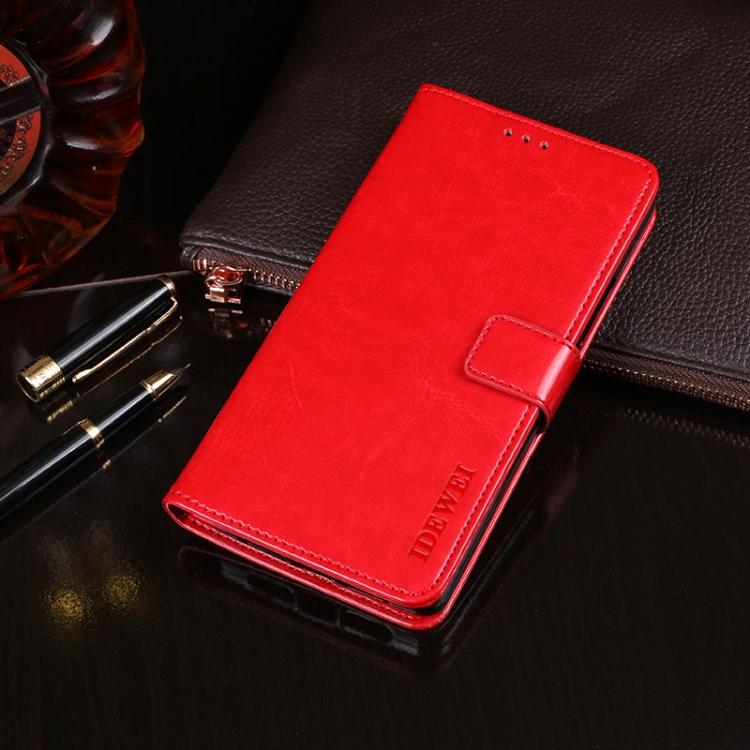 Кожаный красный чехол-книжка для Сяоми Редми 9Т