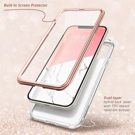 Двухсторонний чехол Supcase Cosmo для Айфон 12 Про Макс Marble