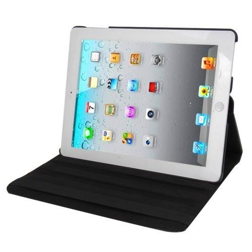 Кожаный Чехол 360 Degree Sleep / Wake-up черный для iPad 4/ 3/ 2