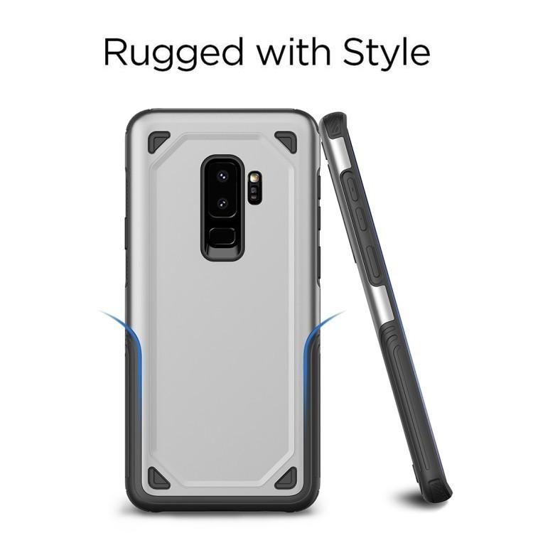 Противоударный чехол на Samsung S9 Plus Shockproof Rugged Armor золотой