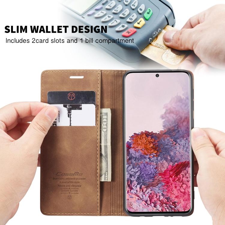 Кожаный чехол-книжка слоты для карт для Samsung Galaxy S20
