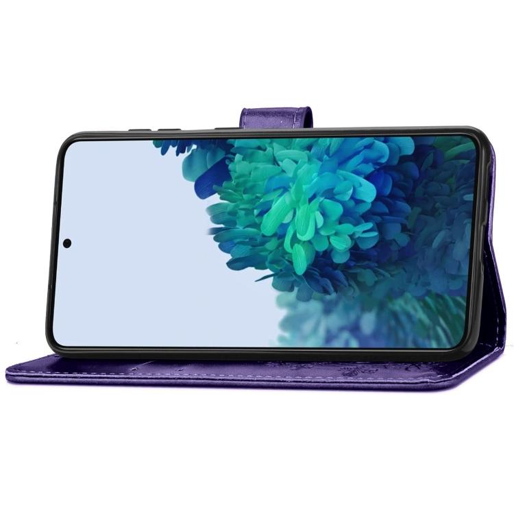 Чехол-книжка со слотами Four-leaf Clasp для Samsung Galaxy S21 Plus