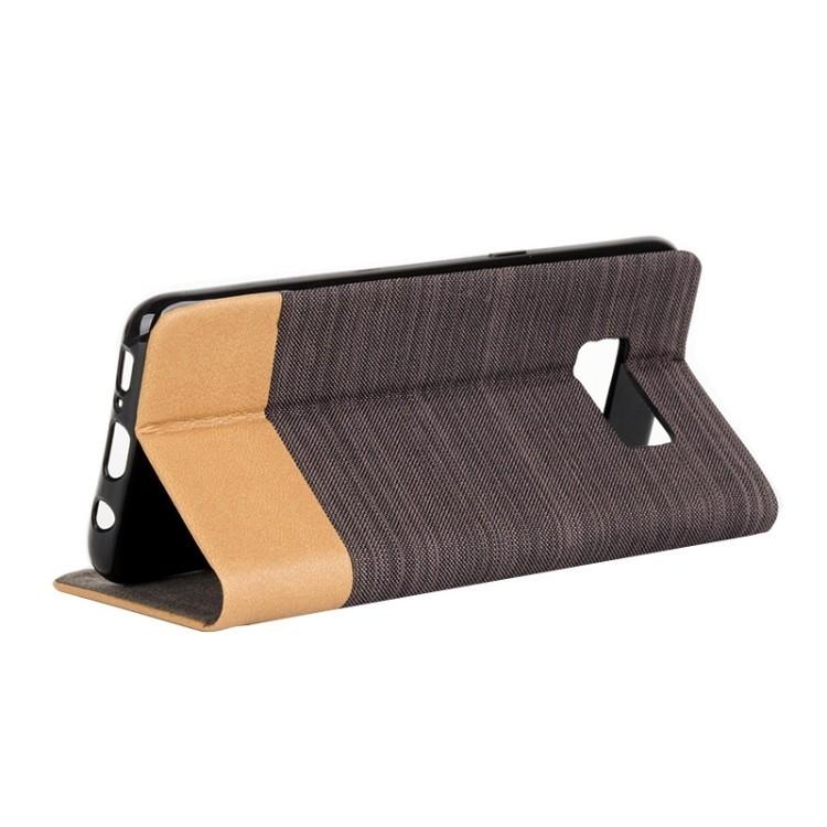 Чехол-книжка на Самсунг Галакси  S8-коричневый