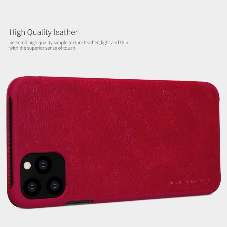 Красный чехол-книжка NILLKIN QIN Series на Айфон 11 Про