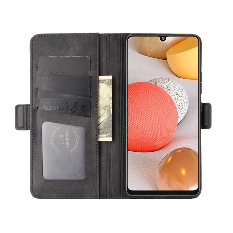 Черный защитный чехол-книжка с слотами под кредитки для Самсунг Гелекси А42