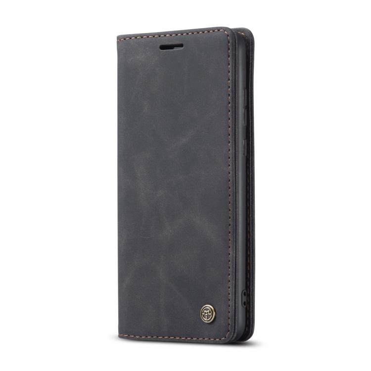 Черный кожаный чехол-книжка для Самсунг Гелекси С21 Ультра