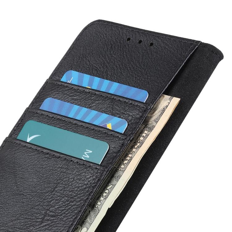 Черный чехол-книжка с слотами под кредитки на Айфон 12