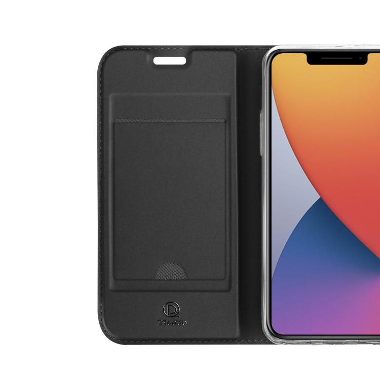 Черный чехол-книжка с слотом под кредитки на Айфон 12