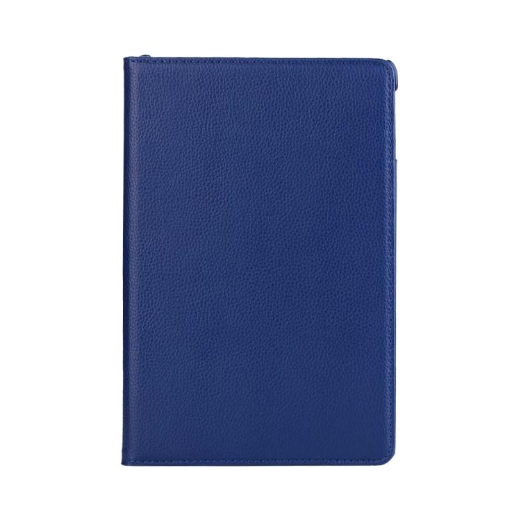 Кожаный Чехол 360 Degree Litchi Texture на iPad Mini 5 (2019)/ Mini 4 -темно-синий