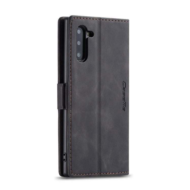 Черный чехол-книжка с слотами под кредитки для Самсунг Гелекси Нот 10