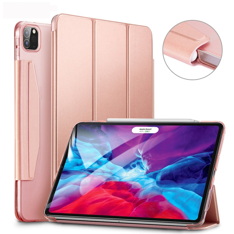 Чехол-книжка ESR Yippee Color на  iPad Pro 12.9 (2020) - розовое золото