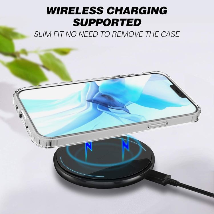 Тонкий чехол с поддержкой без проводной зарядки на Айфон 12