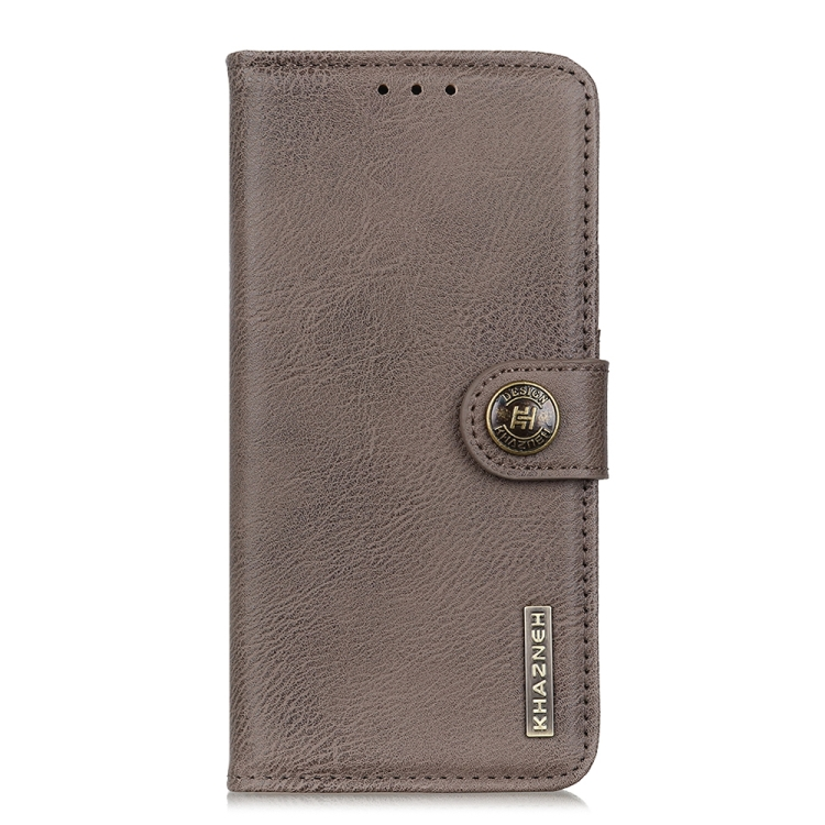 Чехол-книжка KHAZNEH Cowhide Texture на Samsung Galaxy A21s - серый