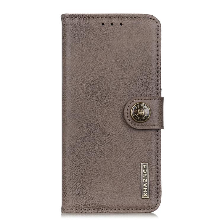 Чехол-книжка KHAZNEH цвета хаки на Samsung Galaxy A52