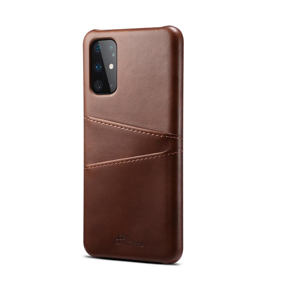 Кожаный чехол-накладка со слотами для кредитных карт на Samsung Galaxy S20
