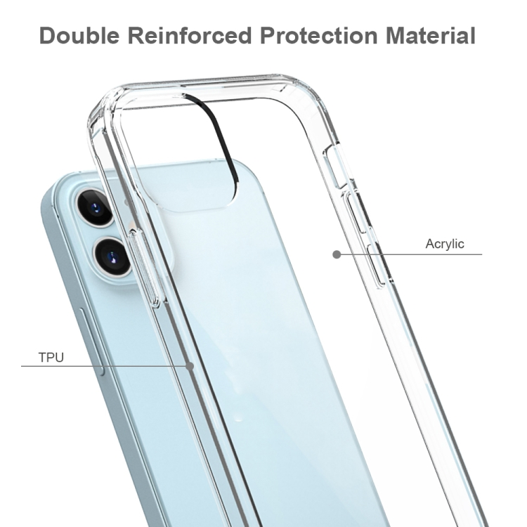 Акриловый прозрачно розовый противоударный чехол HMC на Айфон  12 Mini прочно прилегает к смартфону