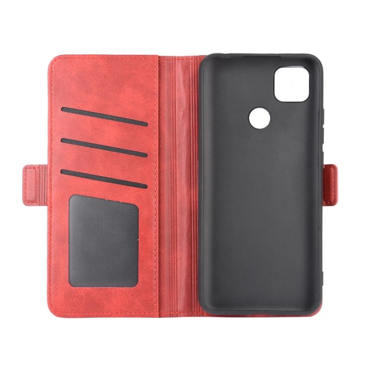 Чехол-книжка Dual-side Magnetic Buckle для Ксяоми Редми 9C - красный