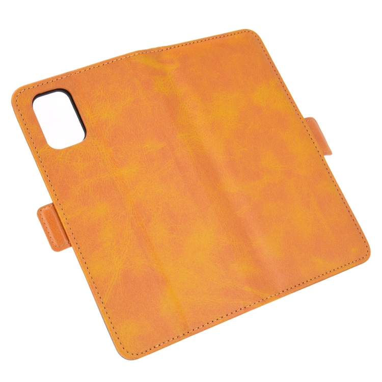 Кожаный оранжевый чехол-книжка для Самсунг Гелекси М51