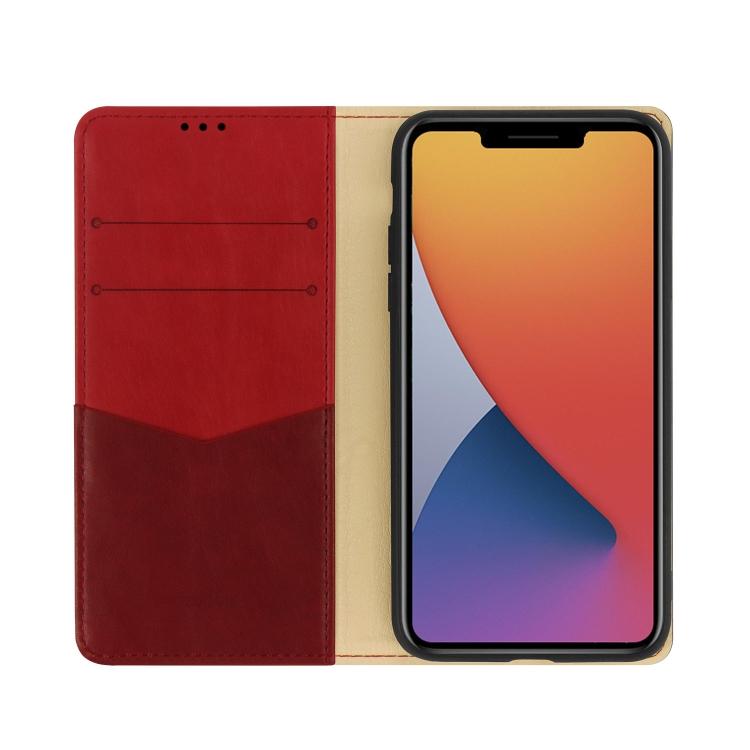 Красный чехол-книжка со слотами на Айфон 12 Мини
