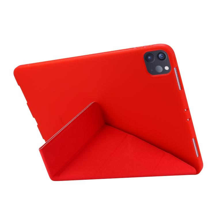 Чехол-книжка ярко-красного цвета с складной подставкой для Айпад Про 11