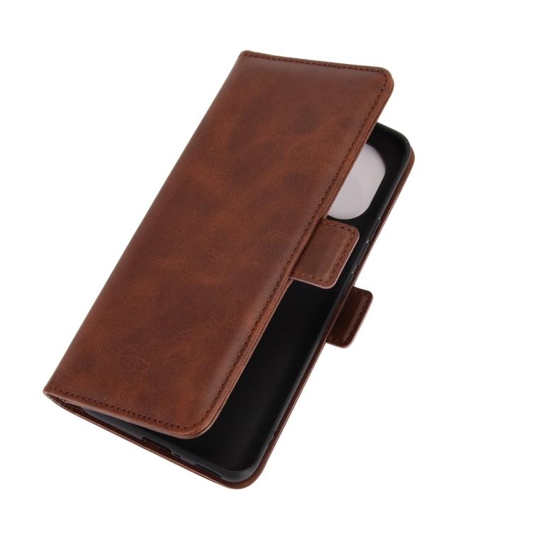 Чехол-книжка  для Ксяоми Ми 11 - коричневый