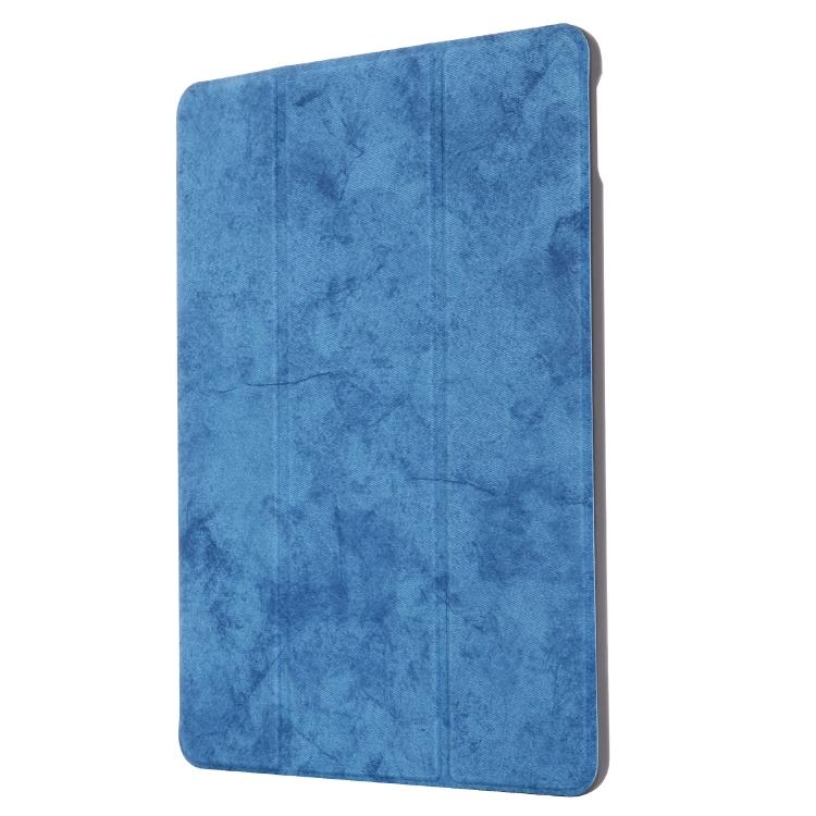 Чехол-книжка GEBEI Cloth Texture Horizontal Flip на iPad 10.2 - синий