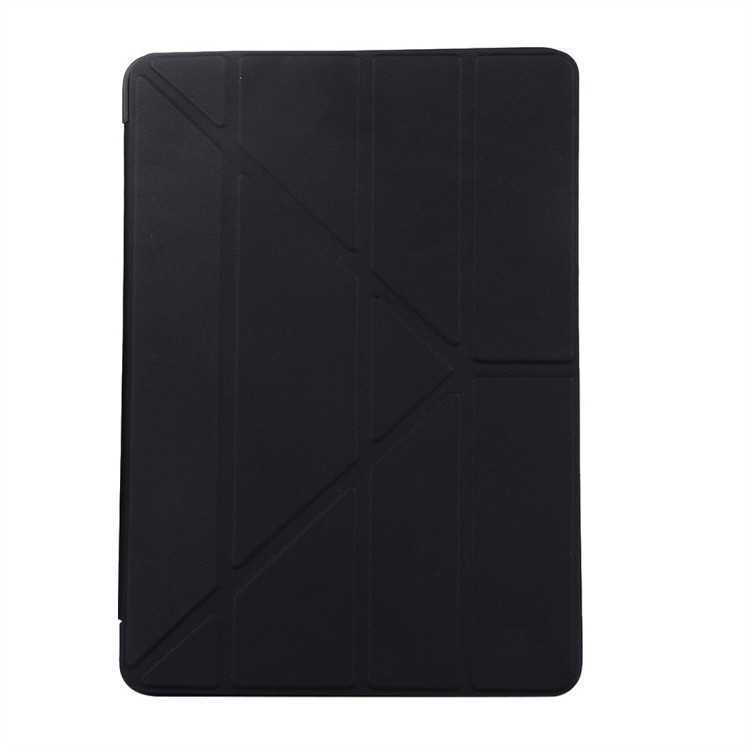 Чехол- книжка Solid Color Trid-fold Deformation Stand на iPad 8/7 10.2 (2019/2020)-черный