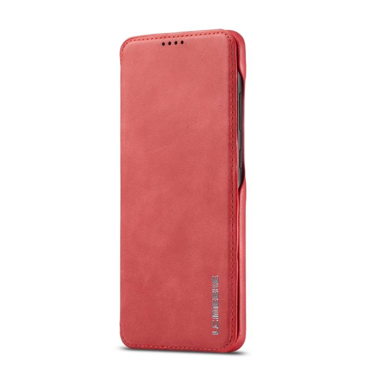Красный чехол-книжка LC.IMEEKE на Samsung Galaxy A51 / M40S