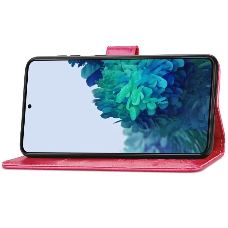 Чехол-книжка со слотами Four-leaf Clasp для Samsung Galaxy S21