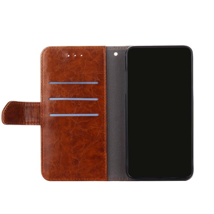 Ударозащитный чехол-книжка с слотами под кредитки на Сяоми Редми 9Т коричневого цвета