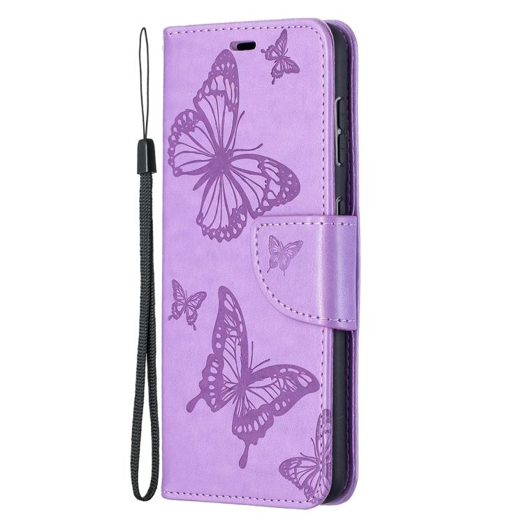 Кожаный чехол-книжка на Samsung Galaxy S21 фиолетовый