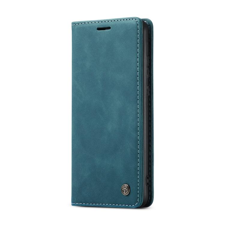 Синий кожаный чехол-книжка для Самсунг Гелекси С21 Ультра