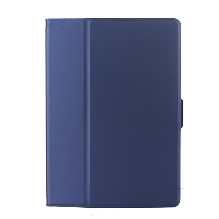 Синий кожаный чехол-книжка для Айпад Аир 2 синего цвета