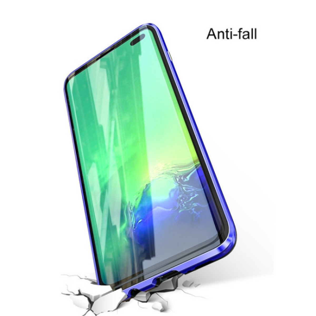 Двусторонний магнитный чехол Magnetic Angular Frame Tempered Glass на Samsung Galaxy S9 - черный