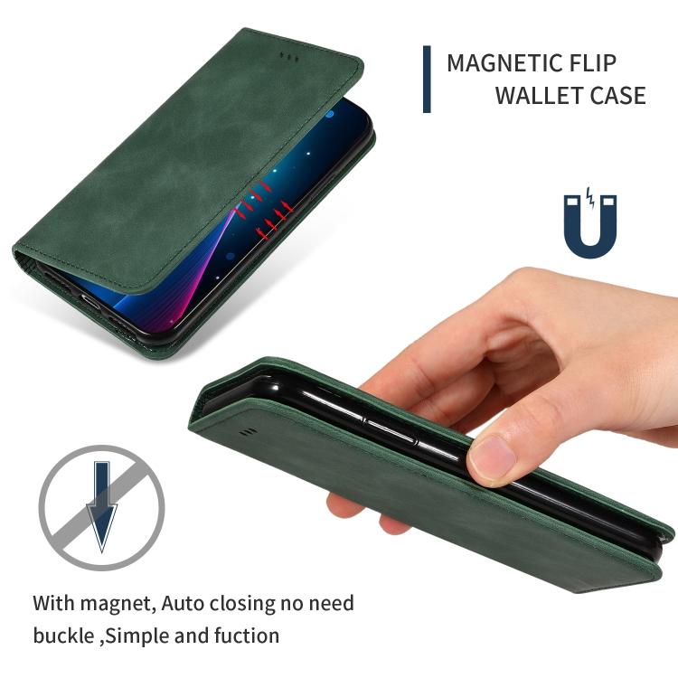 Чехол-книжка с магнитной защелкой зеленого цвета для Самсунг Гелекси С9 Плюс