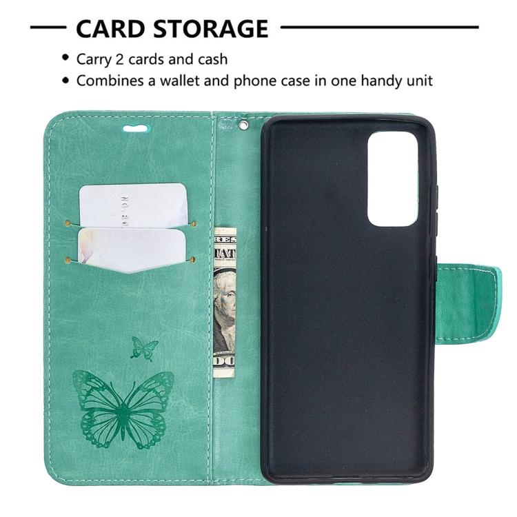 Чехол-книжка кожаный с магнитной защелкой ярко зеленого цвета на Самсунг Гелекси С20 ФЕ