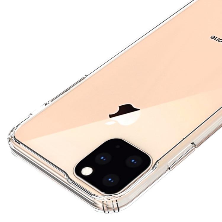 Акриловый чехол с антицарапающимся покрытием на iPhone 11 Про Макс- прозрачный