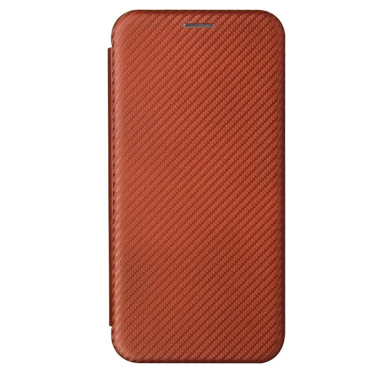Чехол-книжка Carbon Fiber Brown  на Samsung Galaxy A52