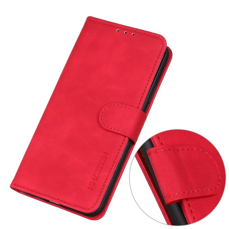 Красный чехол-книжка с магнитной защелкой на Самсунг Гелекси А01 Кор