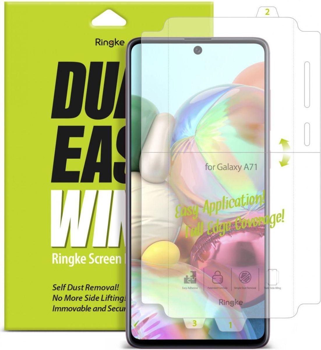 Защитная бронированная пленка Ringke Dual Easy Wing 2x self на Samsung Galaxy A71/ Note 10 Lite/ M51