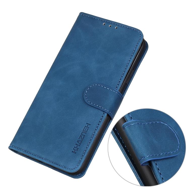 Чехол-книжка с магнитной защелкой для Айфон 12 Про Макс синего цвета