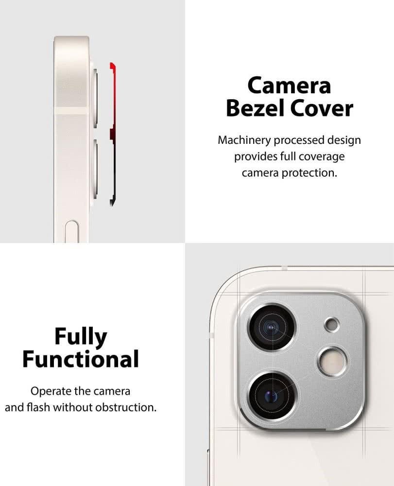 Защита камеры Ringke Camera Styling для Айфон 12 Мини - серебристая