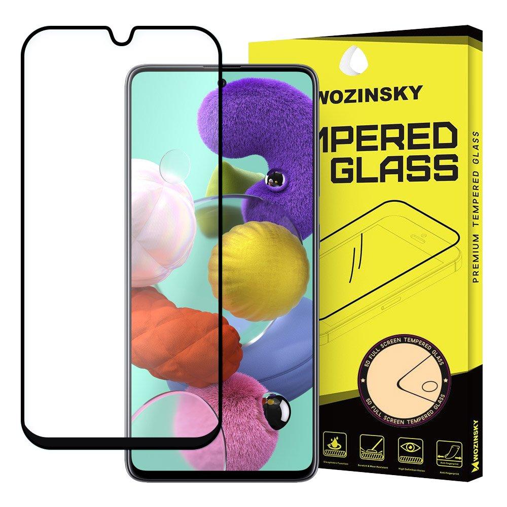 3d защитное стекло Wozinsky Tempered Glass Full Glue клейкое всей поверхностью на Samsung Galaxy Note 10 Lite /A71-черное