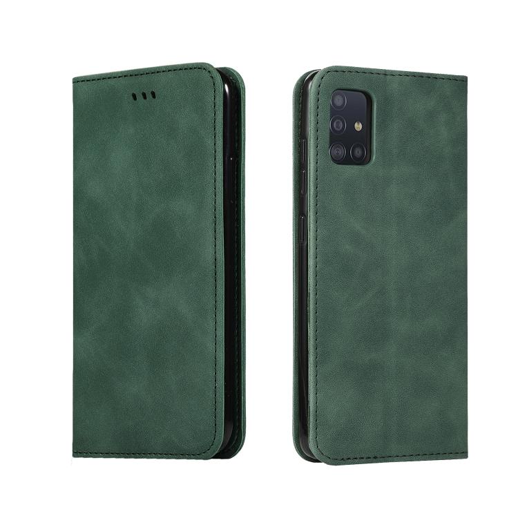 Чехол- книжка Retro Skin Feel Business Magnetic на Samsung Galaxy А51 - зеленый