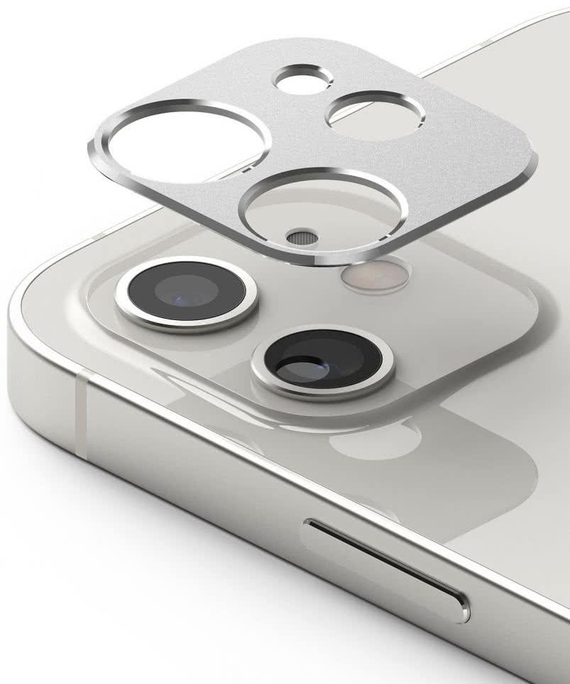 Защита камеры Ringke Camera Styling для iPhone 12 - серебристая