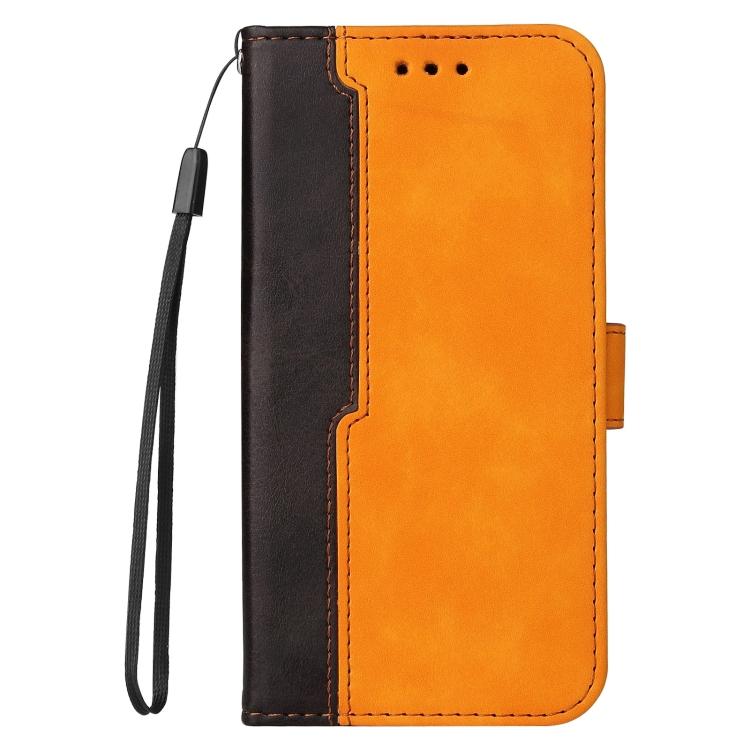 Чехол-книжка Business Stitching-Color для Samsung Galaxy S21 FE - оранжевый