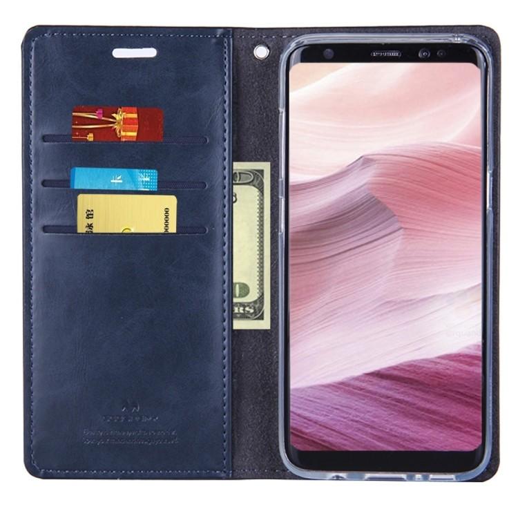Кожаный чехол-книжка MERCURY GOOSPERY BLUE MOON на Samsung Galaxy S8 /G950- нави