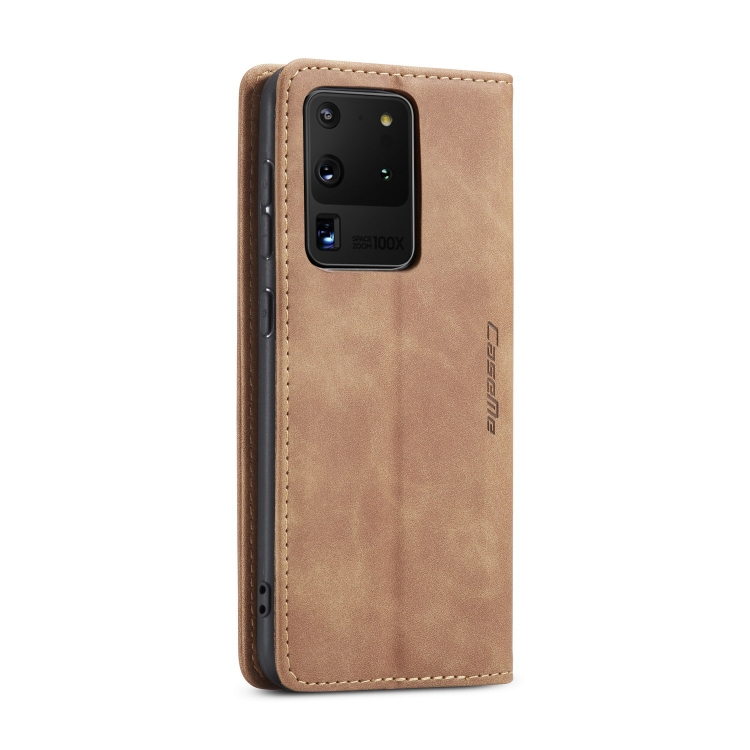 Кожаный чехол CaseMe-013 Multifunctional на Samsung Galaxy S20 Ultra - коричневый