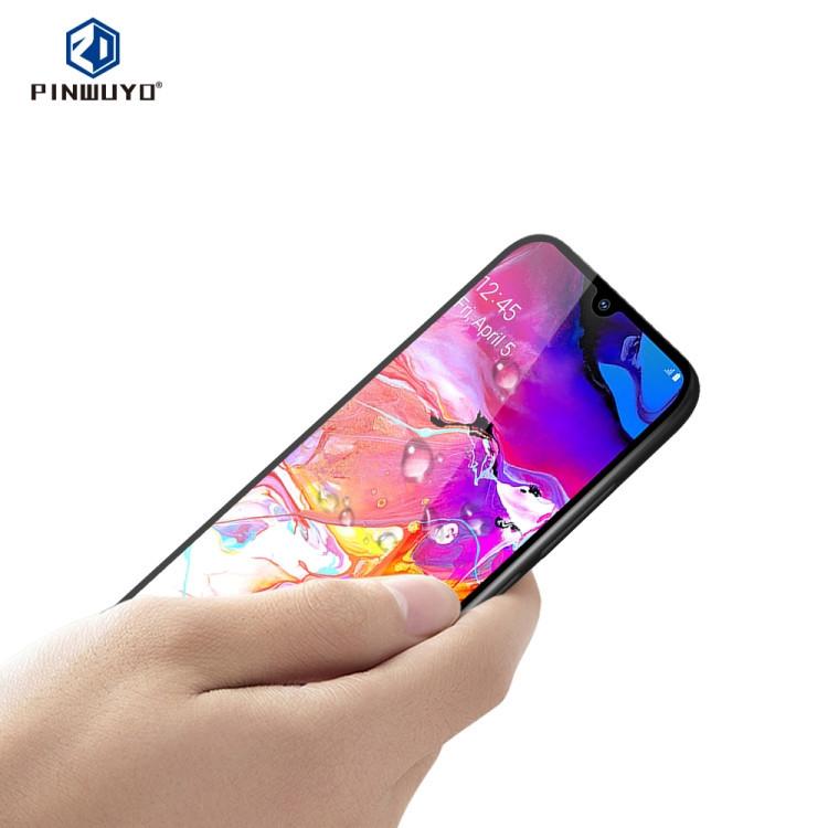 Защитное стекло PINWUYO 9H 3D Full Glue для  Samsung Galaxy A80 / A90-черный